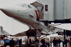 British Airways Concorde G-BOAF at CLE (chrisjake1) Tags: concorde britishairways hopkins cle gboaf kcle