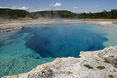 Sapphire Pool (gwiwer) Tags: blue usa hot water pool clear yellowstone wyoming geothermal deepblue biscuitbasin saphhirepool