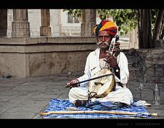 A Ravan and A Ravanahatha (VisualsDiary) Tags: portrait people music india getty jaisalmer rajasthan ravan ravanhatha harshphotography