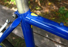 Hillman Seat cluster (ah_blake) Tags: road blue bike bicycle 531 frame singlespeed fixed fixie velocity hillman aerohead pantographed