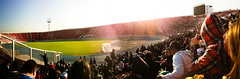 Estadio Nacional (Against o!) Tags: chile santiago sunrise panoramic amanecer panoramica lau iphone universidaddechile estadionacional copasudamericana iphone4 soyazul