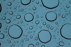 (littl3merm4id) Tags: blue summer macro window beautiful beauty up car rain happy droplets sad close shot april capture raining incredible pouring