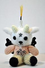 Baby Baphomet (SenorMysterioso) Tags: cute art toy star stuffed candle crochet goat smith plush knights pentagram kawaii monte amigurumi illuminati templar baphomet a