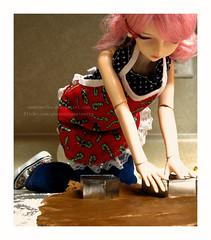 Christmas baking (sweetmeika) Tags: christmas xmas baking doll bjd resin dolly abjd candycanes dz dollzone fenyo
