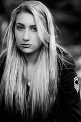(Emily Ann Hall) Tags: blue portrait people white black girl canon hair person rebel hall emily eyes ashley 85mm blonde ann usm f18 ef feldman t1i