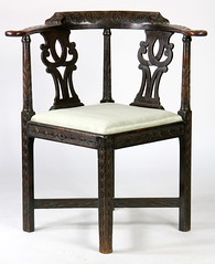 74. Colonial Revival Corner Chair