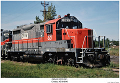 DMVW GP20 321 (Robert W. Thomson) Tags: railroad train diesel railway trains northdakota locomotive trainengine crosby geep emd gp20 fouraxle dmvw dakotamissourivalleyandwestern