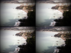 Quadriptych (yameen9000) Tags: ocean sanfrancisco california autumn fall blurry view blurred quad pacificocean chinabeach quadriptych