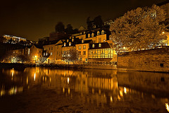 The Color of the Night is not always Black II_(Explored Highest Position #1) (Christoph Pfeilstücker) Tags: color reflection water colors night canon river europe nacht explore luxembourg nuit letzebuerg luxembourgcity explored 5d2 xris74