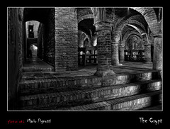 The Crypt (MP_photographer) Tags: blackandwhite italy temple italia gothic style crypt stile bianconero marche romanic cripta tempio offida