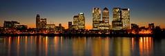 London (stu80) Tags: england reflection london thames skyline night river lights nikon wharf canary d200 1020