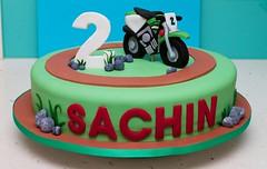 Dirt bike cake (ByronBayCakeBoutique) Tags: cake motorbike dirtbike kawasaki fondant