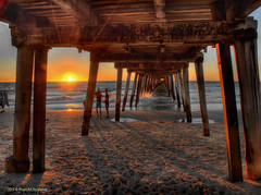 A glowing sunset! (PhotoArt Images) Tags: sunset beach pier sand waves jetty explore southaustralia hdr grange photoartimages