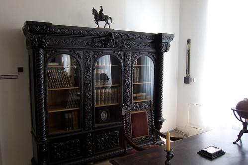 wood carved antique slovakia bookcase 2011 košice
