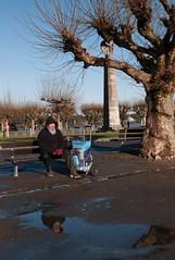 Reflect Yourself (Perspectix) Tags: man tree statue puddle deutschland konstanz grafzeppelin reflectyourself reflectonyourself