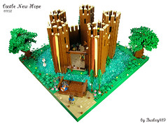 CCCIX - Castle New Hope (vdubguy67') Tags: wood city tree castle classic train army star town scenery war king lego fort space flag contest halo battle queen creation knight drawbridge wars siege moc afol brickarms