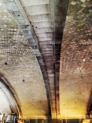 Guastavino tile vaults forming the ceiling of the First Avenue underpass beneath the Manhattan approach to the Queensboro Bridge, New York (Anomalous_A) Tags: nyc newyorkcity bridge ny newyork building metal architecture manhattan eastriver uppereastside cantilever 59thstreetbridge guastavino rafaelguastavino gustavlindenthal nationalhistoriccivilengineeringlandmark henryhornbostel leffertlbuck edkochqueensborobridge
