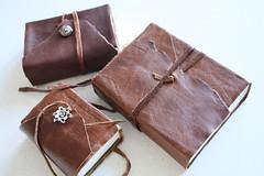 Handmade Leather Journals (noriko.stardust) Tags: art watercolor paper notebook studio handmade fine blogger sketchbook watercolour material kit tool