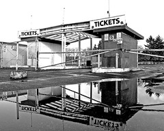 Tickets and nostalgia (Vorona Photography) Tags: family summer usa reflection history classic cars abandoned water pool childhood rural america vintage fence movie cherry fun tickets stand washington theater antique decay films empty united great culture historic retro drivein flashback nostalgia entertainment 1950s memory americana tacoma states hop lakewood 1970s oldies 1980s goodies drivethrough concessions highway99 recession southtacomaway stuffwhitepeoplelike 2960s