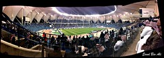 King Fahd International Stadium in Riyadh .. Al Hilal v.s Juventus  Player in the retirement of Muhammad Daei (Sud Bin Ali   ) Tags: panorama horizontal exposure cross image panoramic line