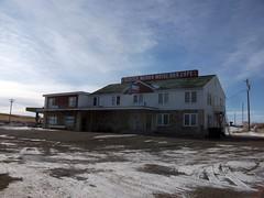 Glocca Morra Motel Bar Cafe in Sweetgrass, Montana (dave_7) Tags: usa hotel us montana sweetgrass barbuilding gloccamorramotelbarcafe