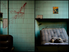 the scream (xdun) Tags: color abandoned canon bed flickr seat forgotten scream munch sedia letto decayed urlo mija pazzia unrealpixel