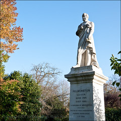 Palmerston (*ian*) Tags: park blue sky monument statue square memorial remember palmerston bluesky hampshire memory conservative remembrance southampton liberal citycentre tory primeminister lordpalmerston bigemrg palmerstonpark foreignsecretary viscountpalmerston burgessofsouthampton 17841868