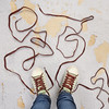 Untied   9/366 (YetAnotherLisa) Tags: selfportrait shoes 365 laces untied shoelaces 366