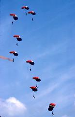 Para's (Richard Mansfield's Photo's) Tags: parachute greenhamcommon airtattoo 1981 air force international tattoo iat raf greenham common jclassman rmansfield richardmansfield adventure life thepast nikkor nikon
