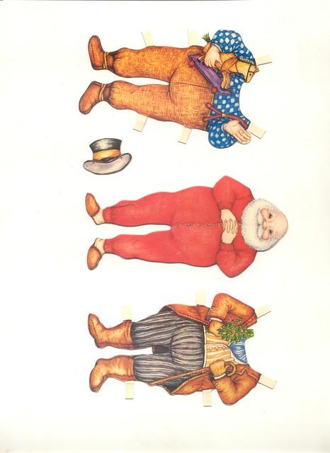 Vintage Santa Paper Doll