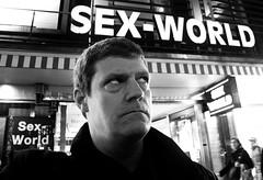 Sex World 165/365 (Lens felicis) Tags: street winter portrait blackandwhite white selfportrait black self germany munich mnchen bayern deutschland streetphotography 365 schwarzweiss 2012 selbstportrt sexworld project365 365days 365project samsungex1 januar2012