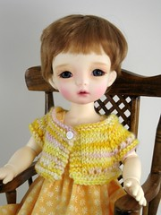 Dollmore Aga with hand-knitted sweater (elizabeth's*whimsies) Tags: bjd tinybjd miasbabydoll dollmoreaga