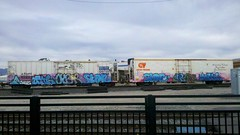 AUNR CYBER SIGN (RUSTY O'LEUM) Tags: sign graffiti zee unionpacific usc cyber freights armn rxr aunr fr8s cryotrans