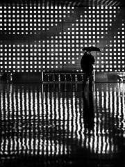 lover of the light // st. pauli, hamburg (pamela ross) Tags: reflection rain silhouette umbrella hamburg altona reeperbahn spielbudenplatz