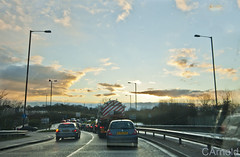 Sunset (justyourcofchi) Tags: road sunset england sky sun cars clouds drive spring model flickr photographer chiarnold justyourcupofchicom justyourcupofchi