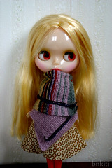 Afghan knitted for..... Doll!!