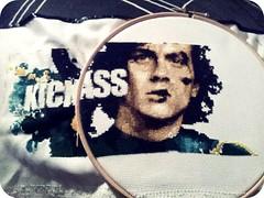 Kick-Ass, Almost Finished (stitchFIGHT) Tags: crossstitch comic cross stitch embroidery wip marvel kickass xstitch stitchfight