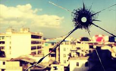Bullet Hole in my Window :: iPhone