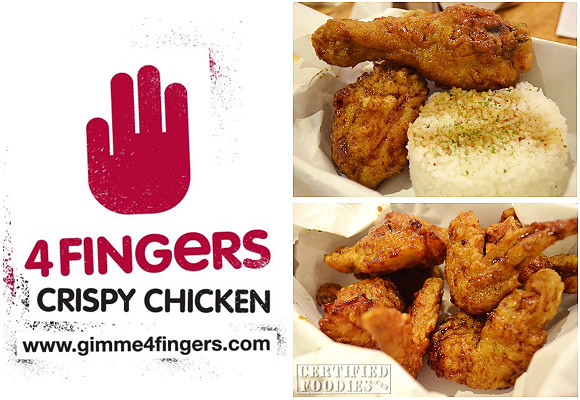 4 Fingers Crispy Chicken is now in the Philippines, at SM North Edsa!