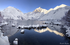 Snow Covered Convict Lake [Explore #47] (Fereshte Faustini) Tags: winter mountain lake snow reflection sierra convictlake platinumheartaward fereshtefaustini