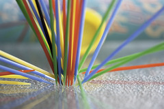 Pick Up Sticks (jane.garratt) Tags: game vintage action falling plastic pickupsticks brightcolours canoneos450d canonef100mmf28lmacrousm rememberingtoby 112in2012