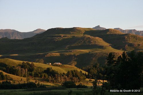 Sunrise in the Drakensburg Mountains