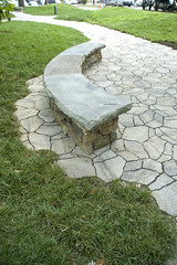 native-04 (Acadia Landscape and Hardscape) Tags: stone nativeamerican universityoftennessee seatwall interpretivegarden