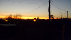 Dusk - the original photograph (dougie.d) Tags: winter sunset church scotland twilight dusk steeple gloaming ayrshire mauchline