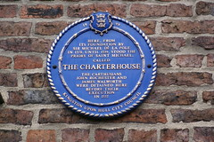 Photo of Michael de la Pole, John Rochester, James Walworth, and The Charterhouse blue plaque