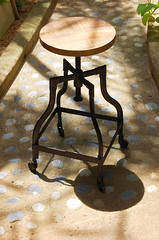Spider Stool (Like That One) Tags: wood urban metal loft raw industrial stool casters edgy modernrustic adjustble