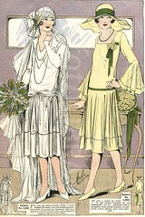 Costume History,1920. (Memria Vintage) Tags: flowers 1920s hat fashion train vintage bride photo costume dress patterns hats marriage retro bridesmaid attendant cloche bouquets fashions millinery mabs