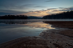 Pastel Morning (John Cothron) Tags: autumn sky usa mist reflection fall sunrise 35mm canon georgia landscape gainesville sunny lakelanier lowwaterlevel hallcounty johncothron 5dmkii cothronphotography wahoocreekpark