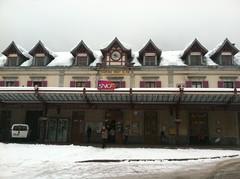 Chamonix Train Station in winter (louisa pickering) Tags: aiguilledumidi tlphriquedelaiguilledumidi ruedemoulins theoldeststreetinchamonix thevalleblanche
