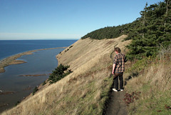 Michael on the bluff trail (Librarianguish) Tags: walk gorgeous bluff sunnyday 212 ebeyslanding unseasonablywarm